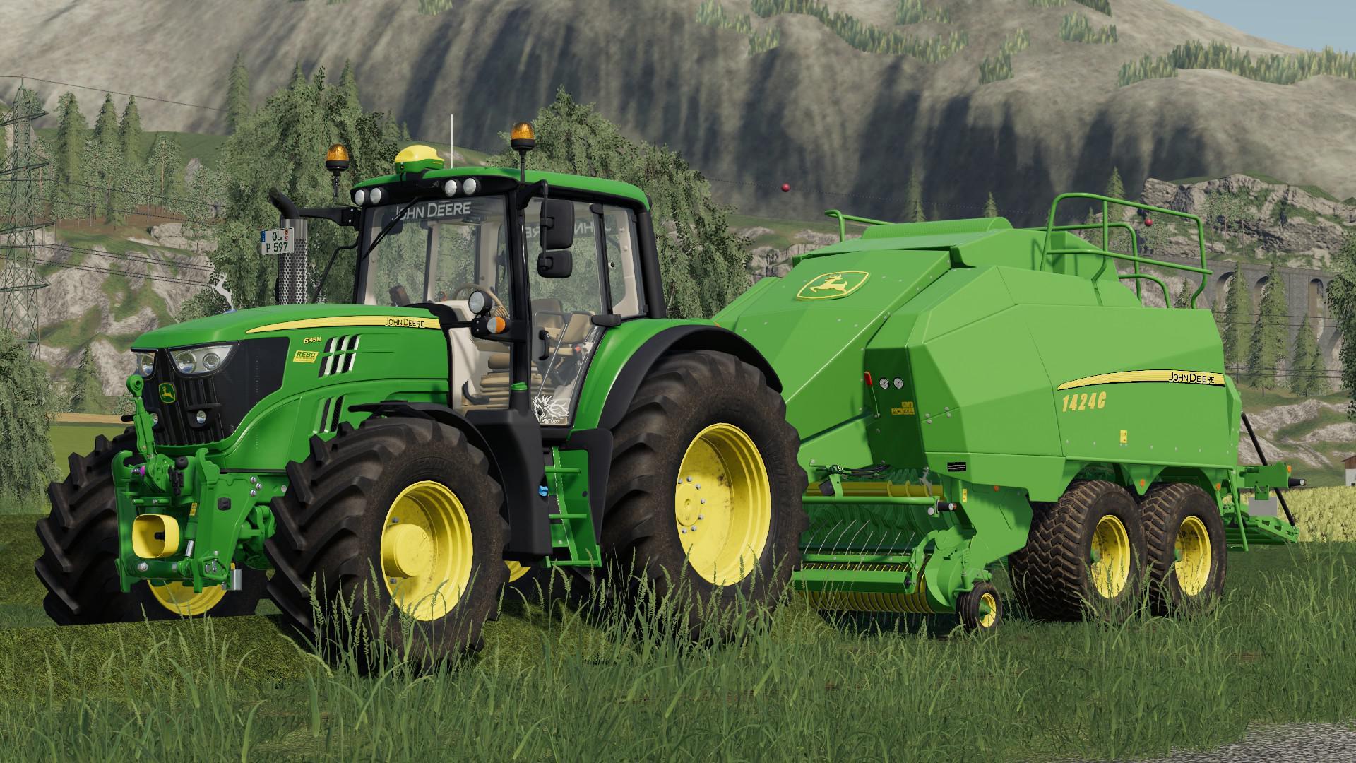 JOHN DEERE 1424C V1.0.0.0 для Farming Simulator 2019