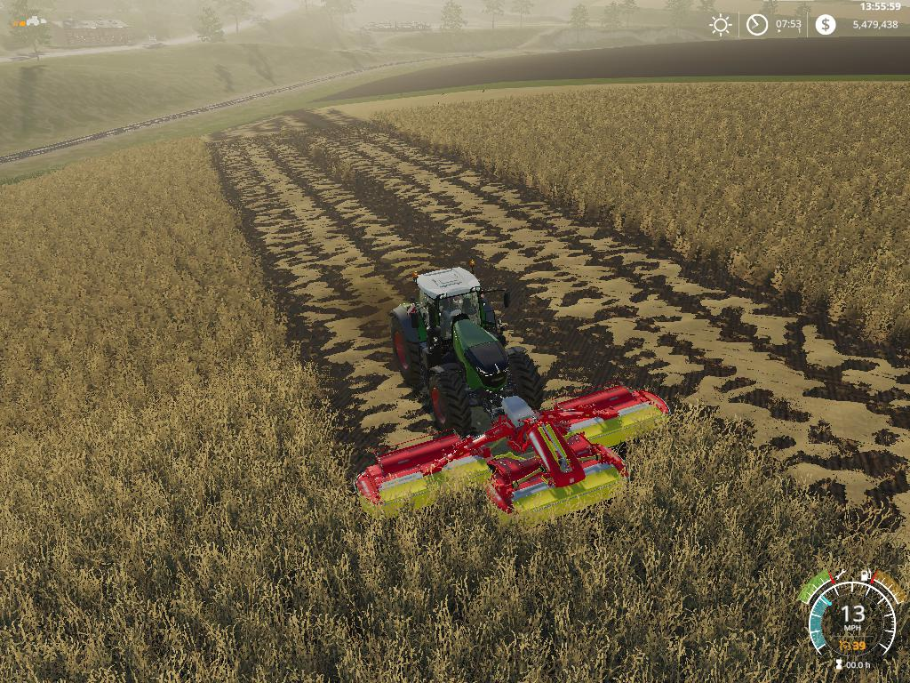 GREEN MOWING V1.0 для Farming Simulator 2019