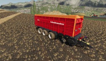 SCHUITEMAKER RAPIDE 8400W 100 V1.0.1 для Farming Simulator 2019