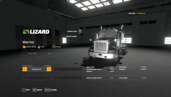 Warrior Semi Truck v1.0.0.0 для Farming Simulator 2019
