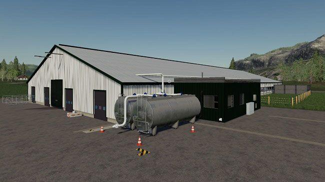 Big Cow Shed версия 1.0.0.0 для Farming Simulator 2019