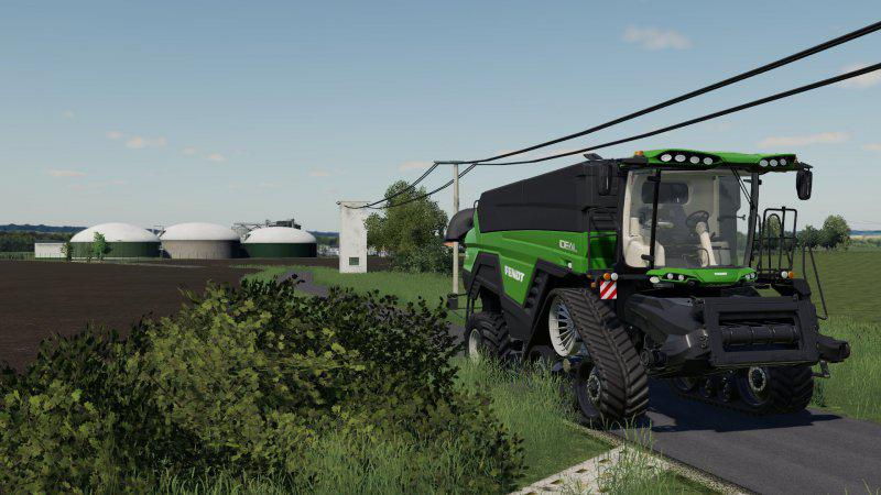 Комбайн Agco Ideal Nature Green v 1.0 для Farming Simulator 2019