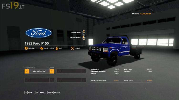 1983 Ford F-150 v 1.0 для Farming Simulator 2019