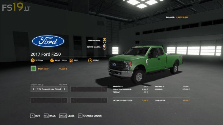 Ford F-250 v 3.0 для Farming Simulator 2019