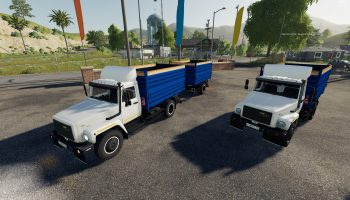 ГАЗ-35071 И САЗ-83173 V1.1 для Farming Simulator 2019