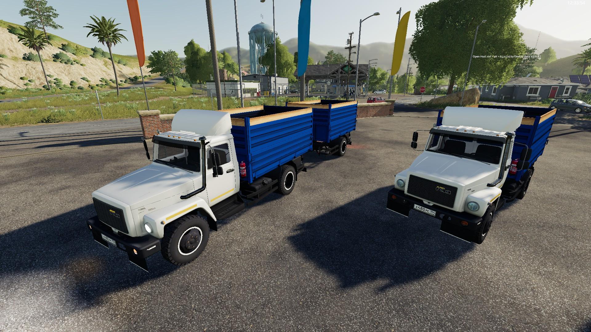 ГАЗ-35071 И САЗ-83173 V1.1 для Farming Simulator 2019