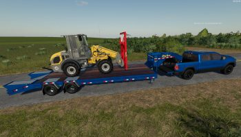 Big Tex Trailer 22GN/PH v 1.0.2.0 для Farming Simulator 2019