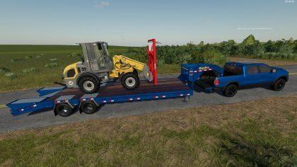 Big Tex Trailer 22GN/PH v 1.0.2.0 для Farming Simulator 2019