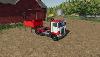 Мод Kenworth K100 Daycab v1.0 для Farming Simulator 2019