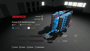 HORSCH PRONTO9DC — MULTIFRUIT V1.3 для Farming Simulator 2019