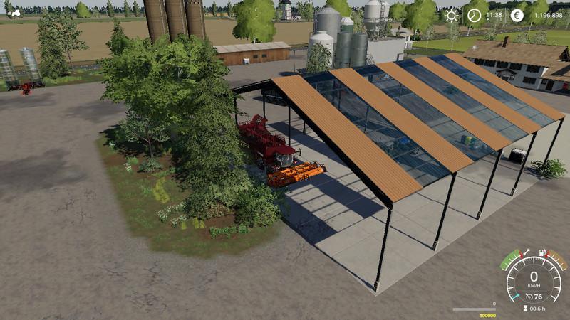 Навес с полом и крышей для Farming Simulator 2019