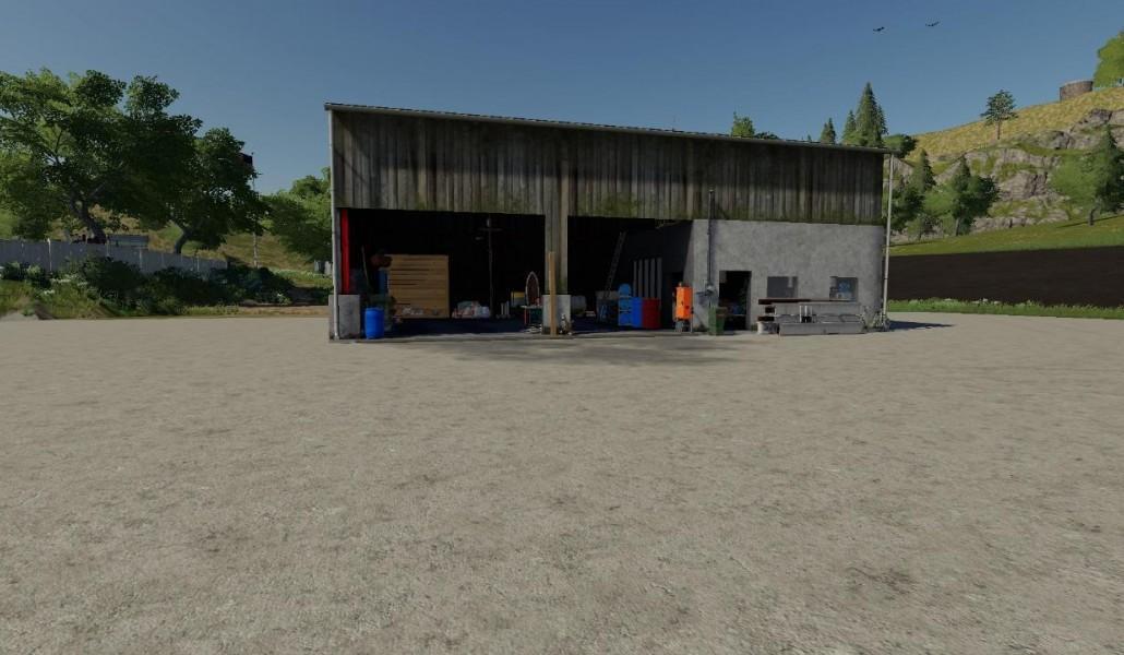 CONVERTED WORKSHOP V1.0 для Farming Simulator 2019