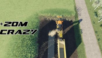 Case Austoft 8800 + 20m Crazy Cutter V1.0 для Farming Simulator 2019