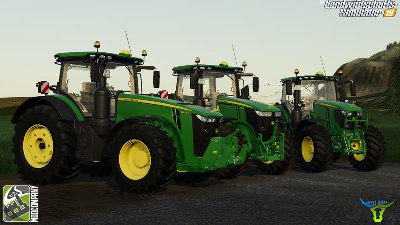 JOHN DEERE R-SERIES PACK BY BC6 V2.0 для Farming Simulator 2019