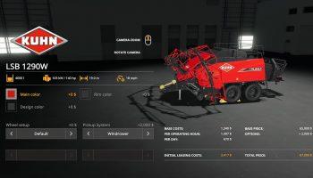 KUHN LSB 1290 V1.0.0.0 для Farming Simulator 2019