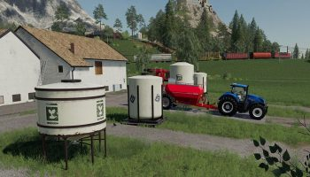 PLACEABLE REFILL TANKS V1.0.0.0 для Farming Simulator 2019