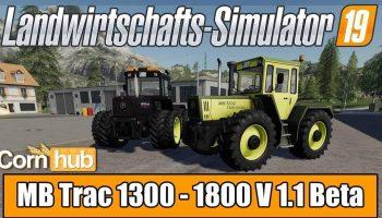 MB TRAC 1300 – 1800 V1.1 для Farming Simulator 2019
