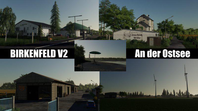 BIRKENFELD AN DER OSTSEE V2.0 для Farming Simulator 2019
