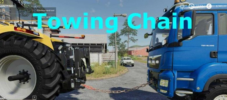 Towing Chain (v1.1) для Farming Simulator 2019