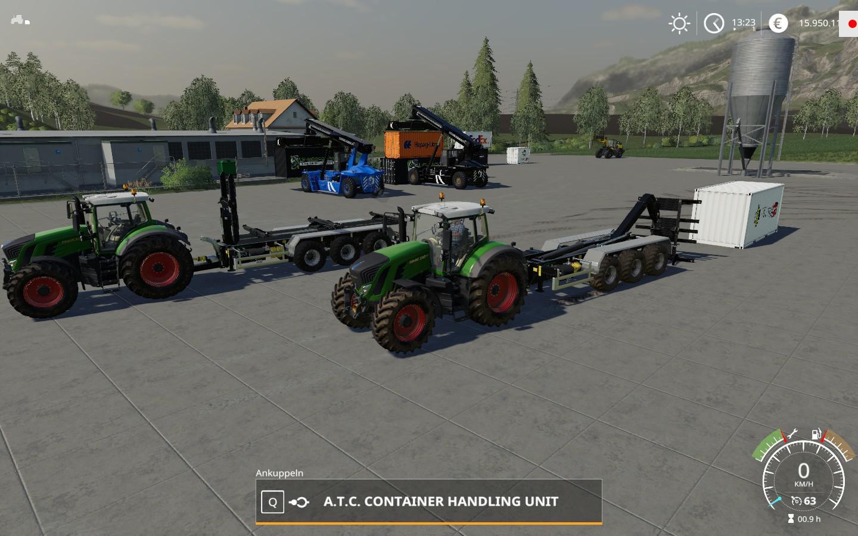 ATC CONTAINERHANDLING PACK V1.0.2.0 для Farming Simulator 2019