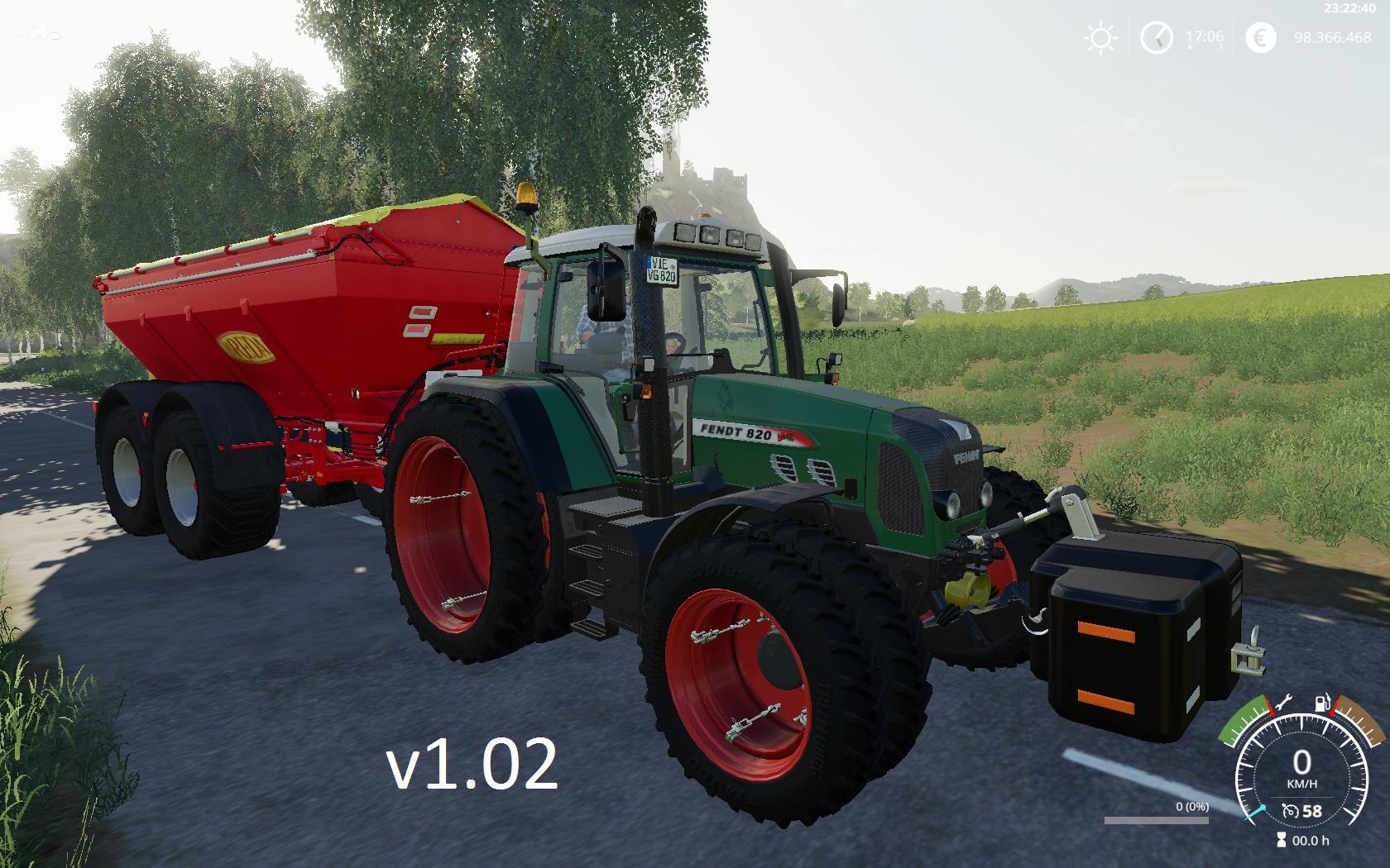 FENDT 800 VARIO TMS V1.0.2 для Farming Simulator 2019