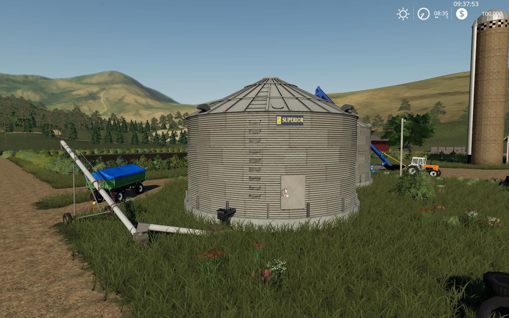 PLACEABLE GRAIN SILO SYSTEM V1.0.0.0 для Farming Simulator 2019