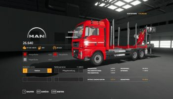 FORST LKW MAN MP V1.3.0 для Farming Simulator 2019