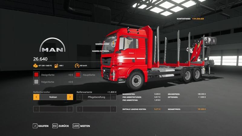 FORST LKW MAN MP V1.3.0 для Farming Simulator 2019