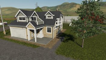FARM HOUSE PLACEABLE RESIDENTIAL HOUSE 8 для Farming Simulator 2019