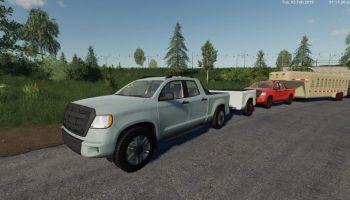 Пикап 2014 v 1.9 с паком прицепов для Farming Simulator 2019