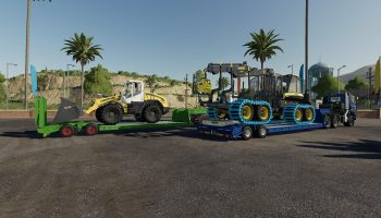 16WHEELS LOWDECK TRAILER V1.1.0.0 для Farming Simulator 2019