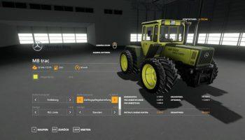 MB TRAC 1300 — 1800 V1.3.0.0 для Farming Simulator 2019