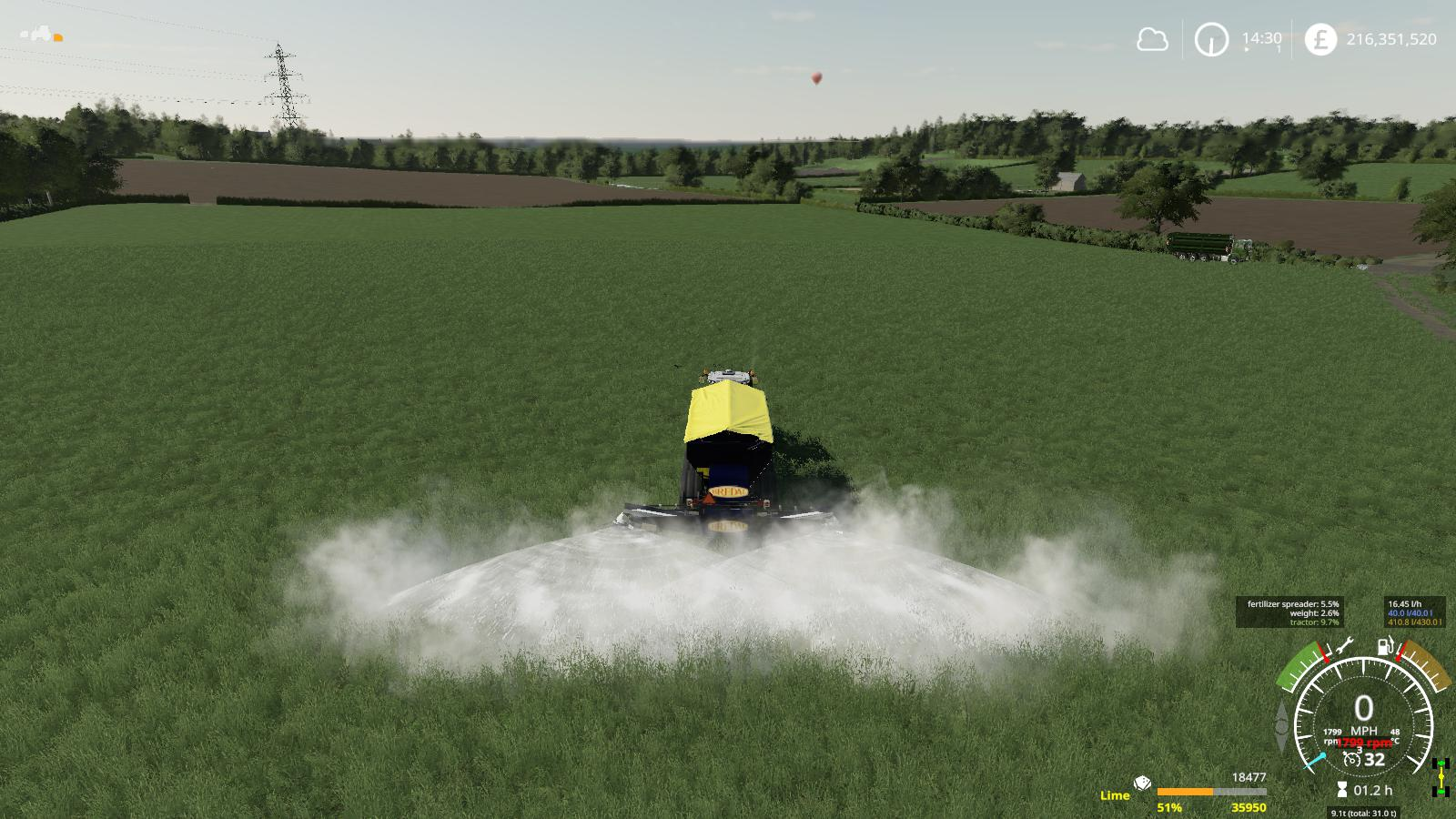 BREDAL K165 LIME SPREADER FINAL V1.3 для Farming Simulator 2019