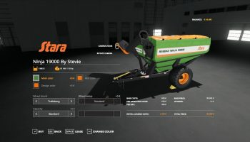 STARA NINJA 19000 AUGER WAGON BY STEVIE для Farming Simulator 2019