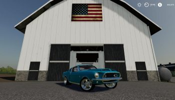 1968 MUSTANG V8 V2.1 для Farming Simulator 2019