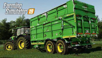 BROUGHAN 18F SILAGE TRAILER V1.0 для Farming Simulator 2019