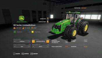 JOHN DEERE SERIES 8R LIMITEDEDITION V1.0 для Farming Simulator 2019