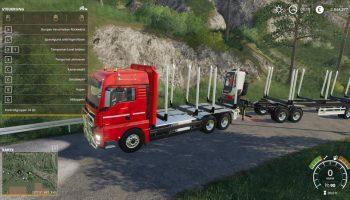 MAN TGX HOLZ LKW V1.0.0.0 для Farming Simulator 2019