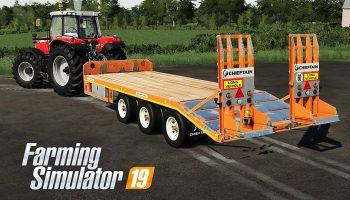 CHIEFTAIN TRI AXLE LOW LOADER V1.0 для Farming Simulator 2019