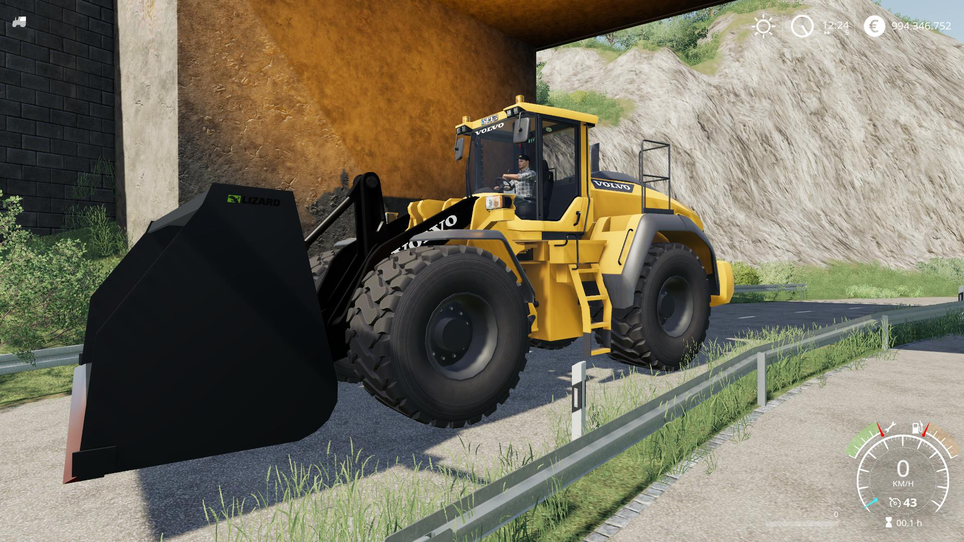 VOLVO L220H WITHOUT SHOVEL, BETTER V2.0.1.9 для Farming Simulator 2019