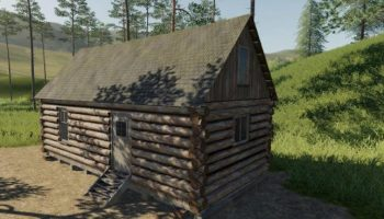 PLACEABLE LOG CABIN WITH SLEEP TRIGGER V1.0 для Farming Simulator 2019