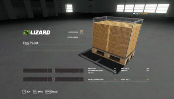 EGG PALLET 12000 V1.0 для Farming Simulator 2019