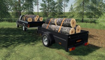 BOECKMANN CAR TRAILER V1.2.0.1 для Farming Simulator 2019