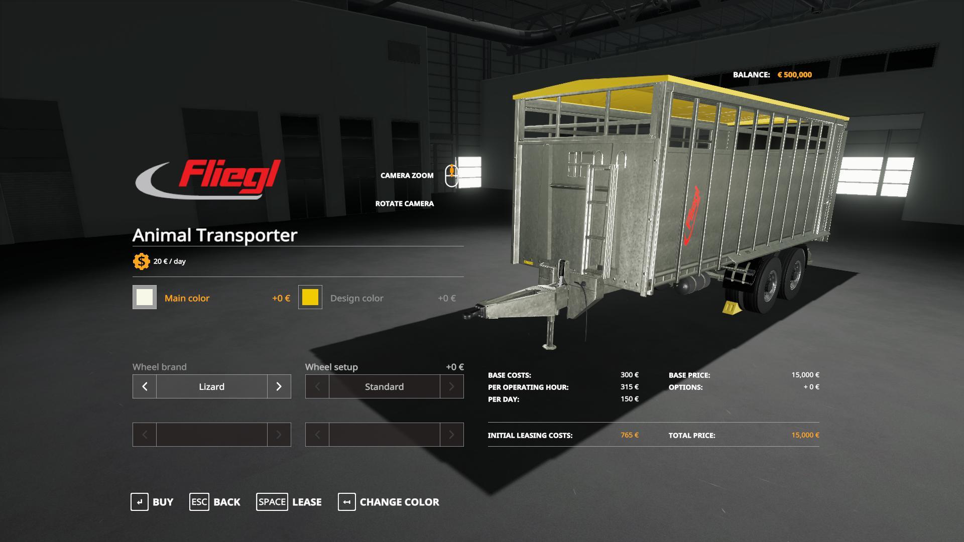 FLIEGL ANIMAL TRAILER V1.0 для Farming Simulator 2019
