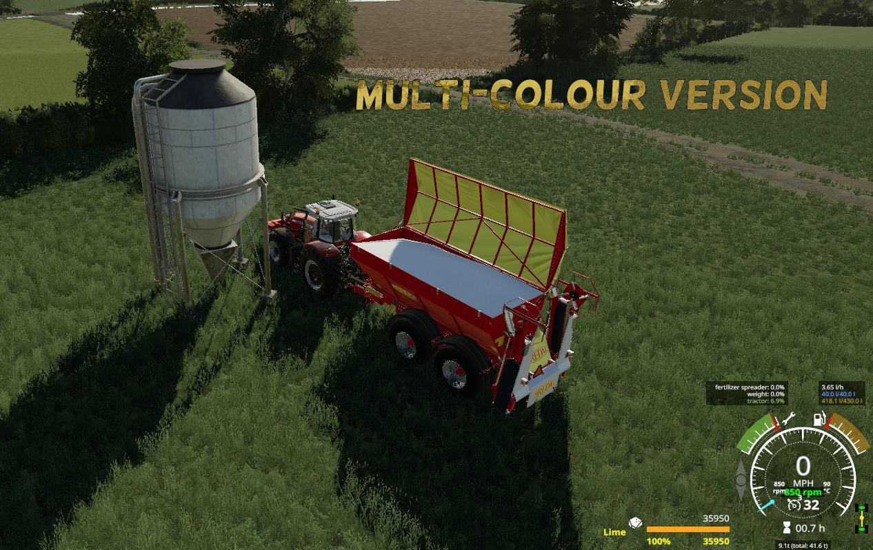 BREDAL K165 LIME SPREADER V1.1 для Farming Simulator 2019