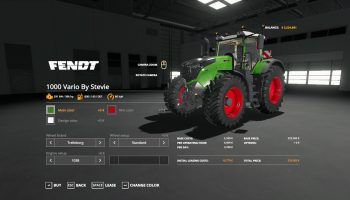 FENDT 1000 VARIO + BIGX 1180 BY STEVIE для Farming Simulator 2019