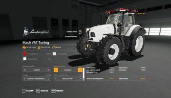 LAMBORGHINI MACH VRT TUNING V1.0 для Farming Simulator 2019