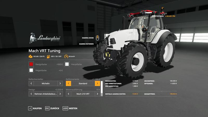 LAMBORGHINI MACH VRT TUNING V1.0 для Farming Simulator 2019