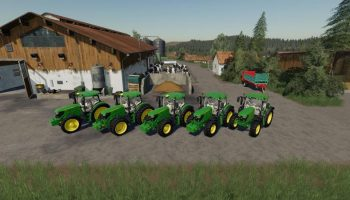 JOHN DEERE 6125 V1.2.0.0 для Farming Simulator 2019