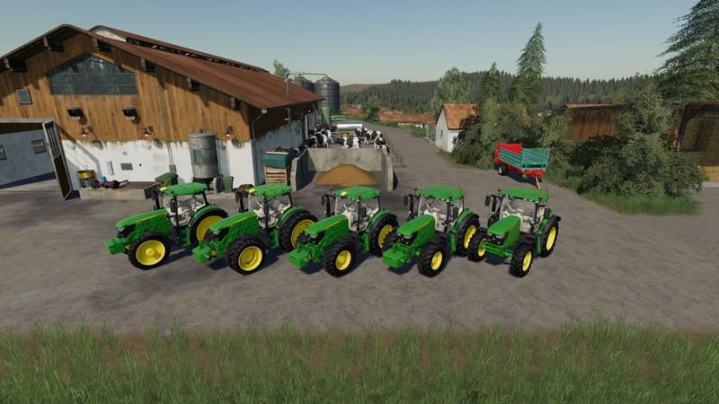 JOHN DEERE 6125 V1.2.0.0 для Farming Simulator 2019